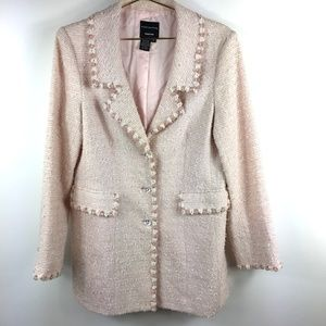 NWT Doncaster Collection  Pink Tweed Blazer A0382